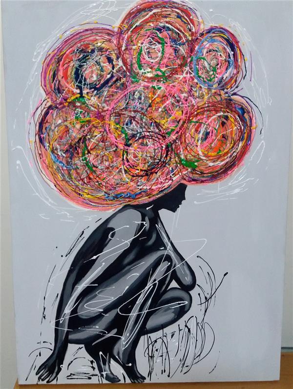 هنر نقاشی و گرافیک محفل نقاشی و گرافیک Rahajoudi70 #نقاشی _مدرن _برجسته رنگ اکرولیک در ابعاد ۵۰*۷۰