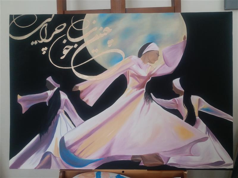 هنر نقاشی و گرافیک محفل نقاشی و گرافیک Rahajoudi70 #رقص_سماع  رنگ روغن و اکرولیک کار شده در ابعاد ۷۰*۱۰۰.
