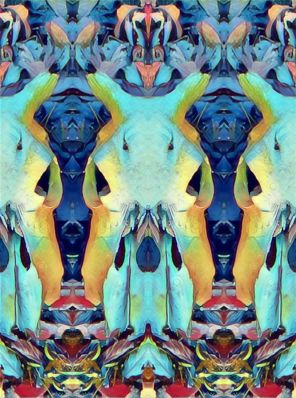 هنر نقاشی و گرافیک محفل نقاشی و گرافیک کسری آصفی Straight into the colors #art #psyche #surreal #distorted  #هنردیجیتال