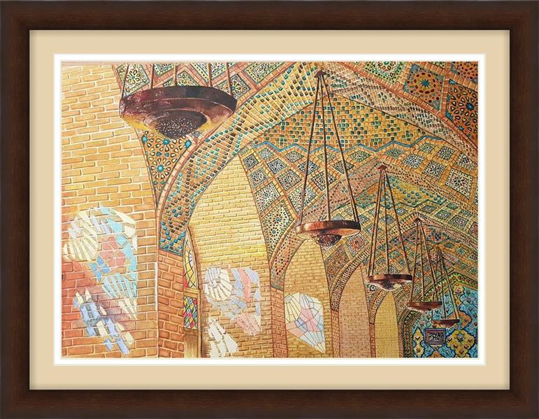 هنر نقاشی و گرافیک محفل نقاشی و گرافیک majid emadi 50*70 /watercolor/pink mosque/ Shiraz/IRAN