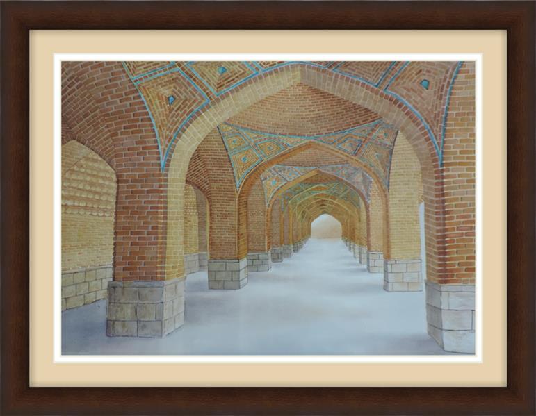 هنر نقاشی و گرافیک محفل نقاشی و گرافیک majid emadi 50*70/water color/ blue mosque/Tabriz/IRAN