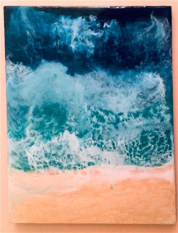 هنر نقاشی و گرافیک محفل نقاشی و گرافیک محمد عبدی #موج #دریا #رزین ۳۰*۴۰