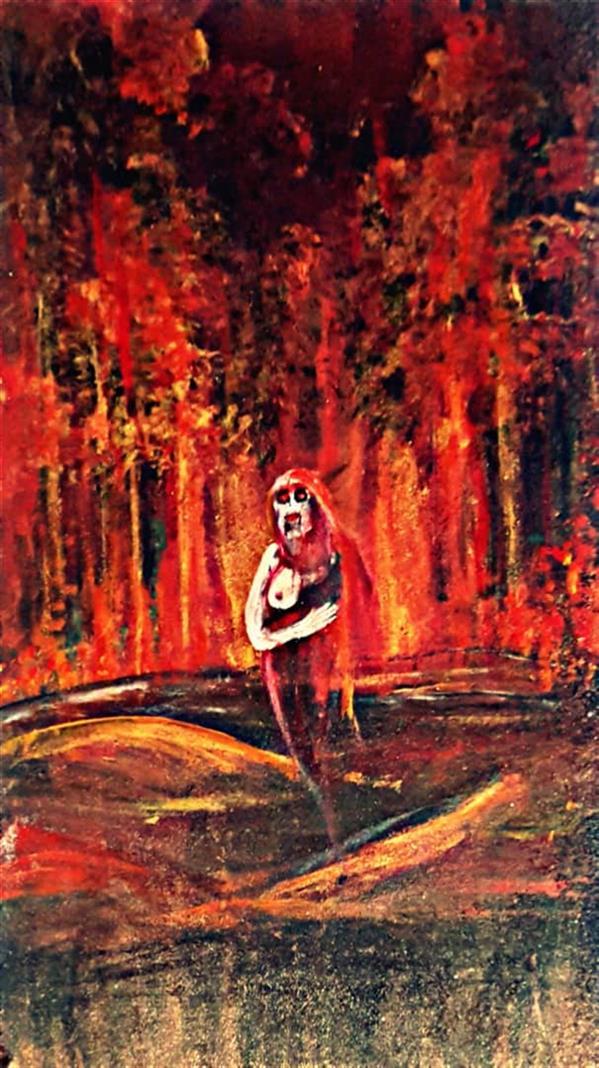 هنر نقاشی و گرافیک محفل نقاشی و گرافیک محمد عبدی #برزخ #شیطان #۶۰*۳۰