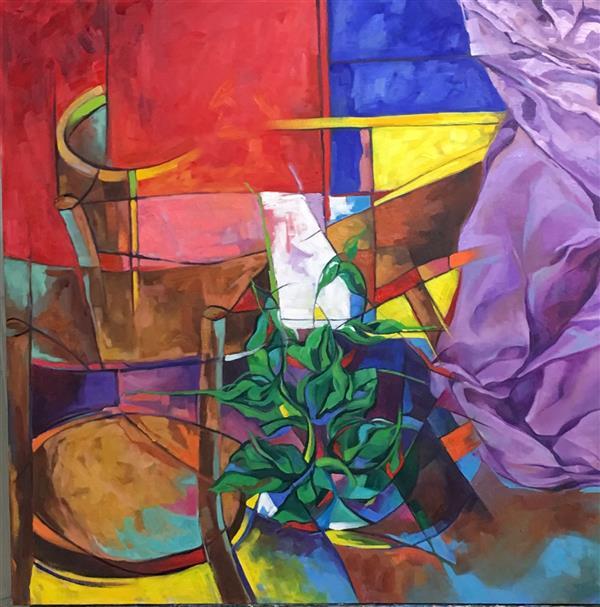 هنر نقاشی و گرافیک محفل نقاشی و گرافیک الهام عبدالحسین پور بدون عنوان  ابعاد ؛ 80*80 رنگروغن روی بوم