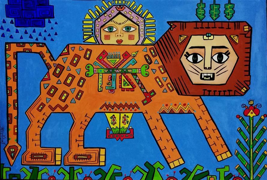 هنر نقاشی و گرافیک محفل نقاشی و گرافیک کیمیا کاوه  #گواش ابعاد 25×35