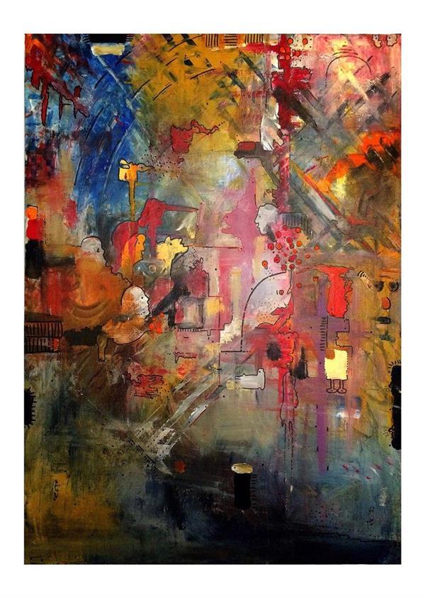 هنر نقاشی و گرافیک محفل نقاشی و گرافیک فریبا صدرایی متریال : اکرلیک سبک : آبستره ابعاد : 50*70