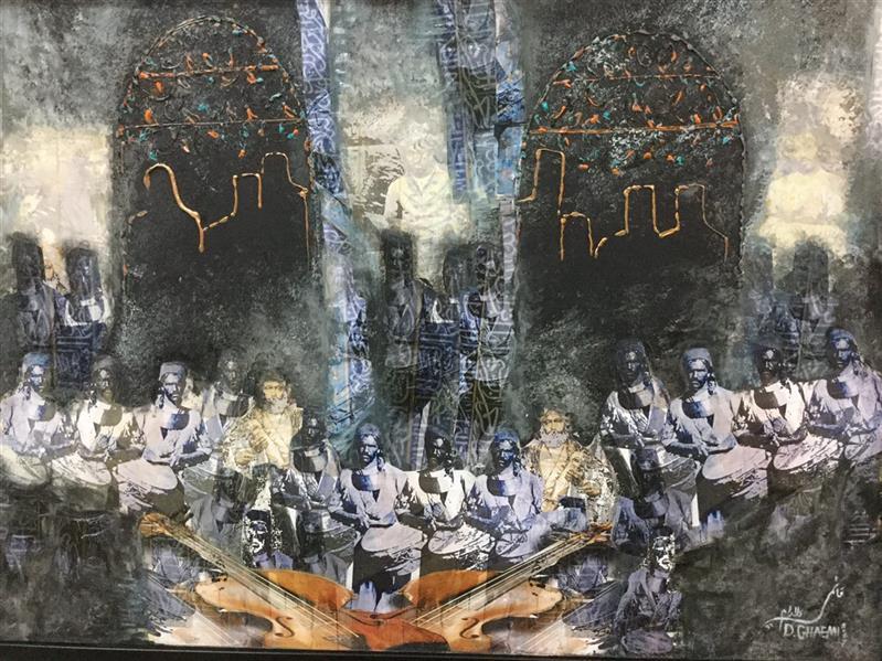 هنر نقاشی و گرافیک محفل نقاشی و گرافیک دلارام قائمی سکوت درون از مجموعه گذری بر زمان و مکان  ٧٠*٥٠ میکس مدیا