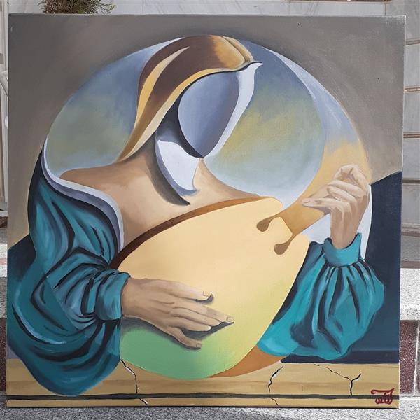 هنر نقاشی و گرافیک محفل نقاشی و گرافیک آزاده نوتاش فرد #رنگ_روغن  #مدرن #کوبیسم سایز ۷۰×۷۰