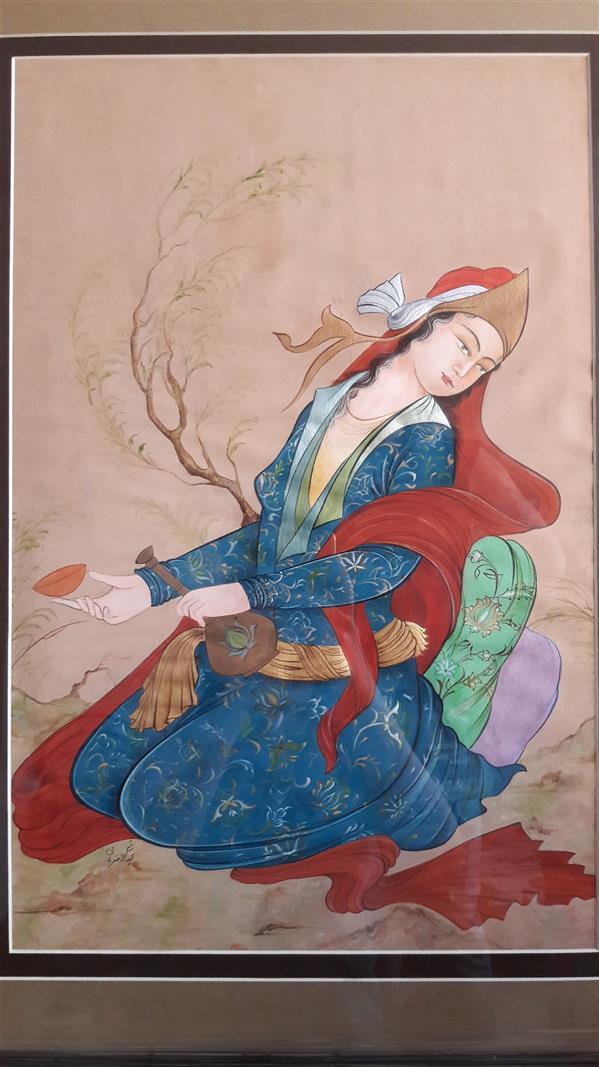 هنر نقاشی و گرافیک محفل نقاشی و گرافیک لیدا اصغریان نگارگری سنتی                                              ابعاد ۵۰×۶۰