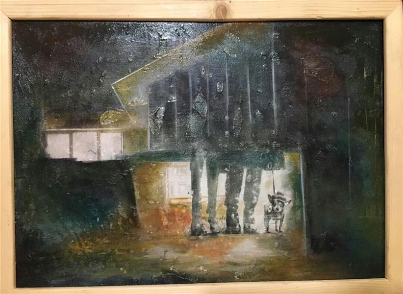 هنر نقاشی و گرافیک محفل نقاشی و گرافیک عصمت واحدی بدون عنوان؛ از مجموعه شهر درون میکس مدیا روی بوم ۲۵×۳۵ سانتیمتر