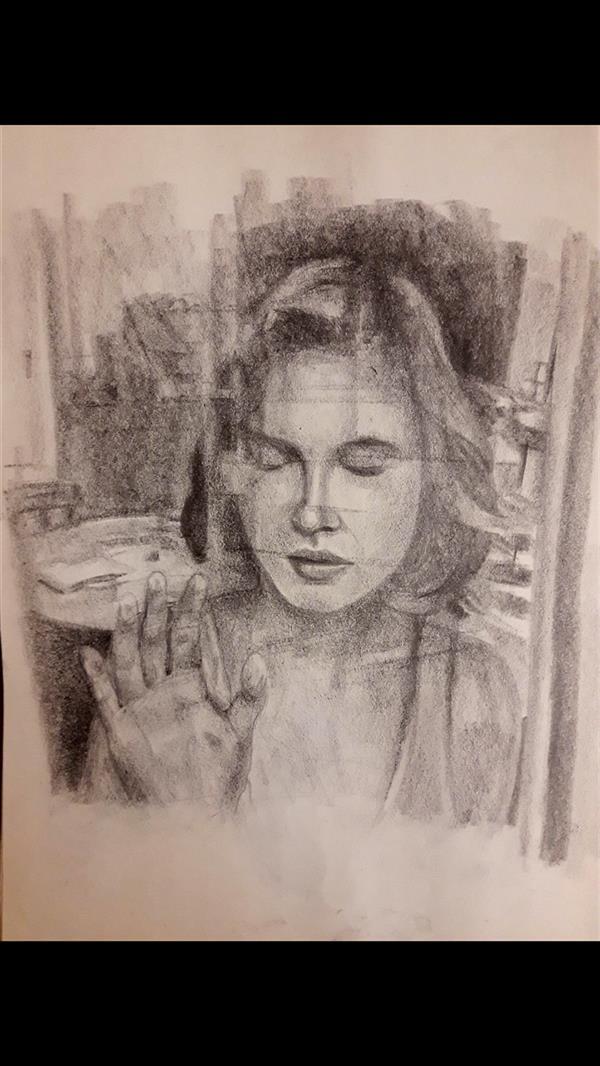 هنر نقاشی و گرافیک محفل نقاشی و گرافیک عصمت واحدی بدون عنوان طراحی روی کاغذ ۳۰×۴۰ سانتیمتر