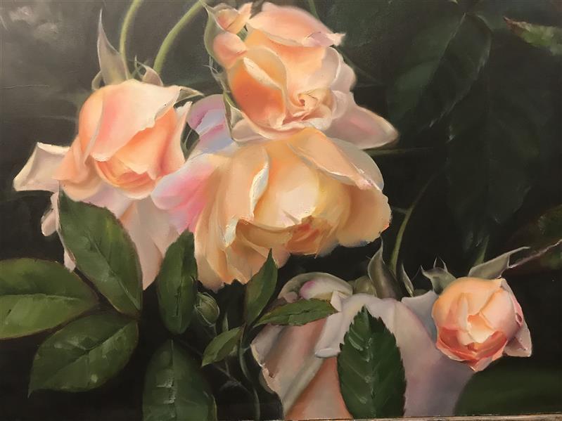 هنر نقاشی و گرافیک محفل نقاشی و گرافیک رزیتا عتیقه چیان گلهای بهاری رنگ روغن ٦٠*٨٠