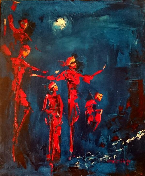 هنر نقاشی و گرافیک محفل نقاشی و گرافیک علی سپهرافغان رنگ روغن روی بوم کاردک