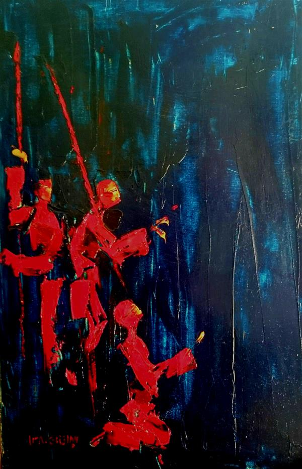 هنر نقاشی و گرافیک محفل نقاشی و گرافیک علی سپهرافغان رنگ روغن روی بوم. محمد علی سپهرافغان.