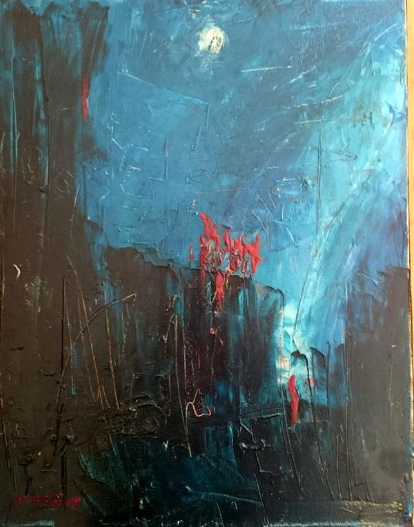 هنر نقاشی و گرافیک محفل نقاشی و گرافیک علی سپهرافغان رنگ و روغن روی بوم. مراسم مهتاب. محمد علی سپهرافغان