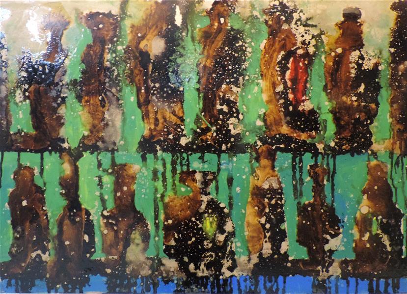 هنر نقاشی و گرافیک محفل نقاشی و گرافیک مریم احمدزاده از مجموعه نقاشی تالار آبگینه... ترکیب مواد...ابعاد 50*70...اجرا روی چوب...اکسپرسیونیسم...طبیعت بیجان