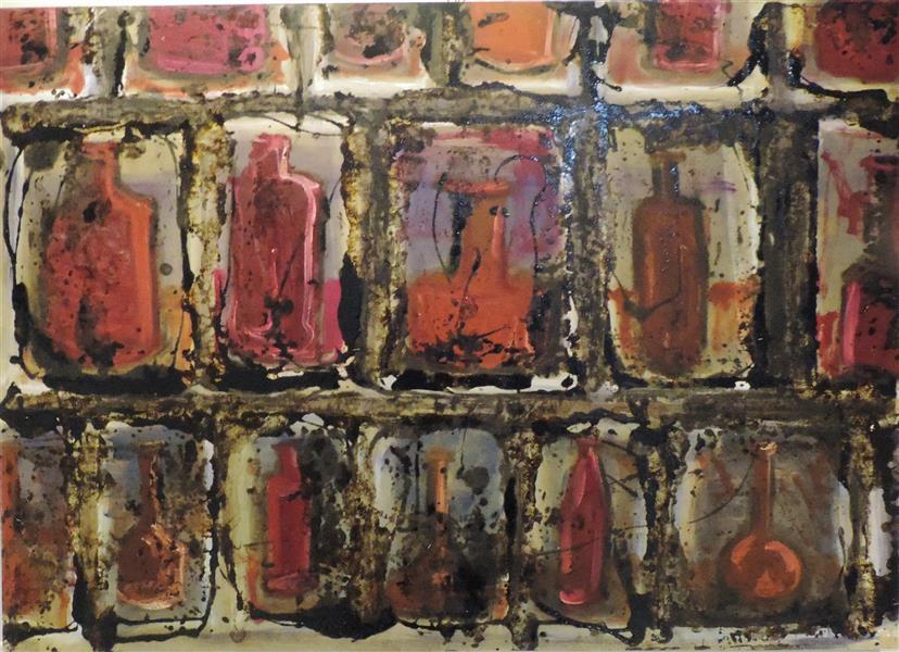 هنر نقاشی و گرافیک محفل نقاشی و گرافیک مریم احمدزاده از مجموعه نقاشی تالار آبگینه....طبیعت بی جان...اجرا روی چوب....ترکیب مواد...50*70
