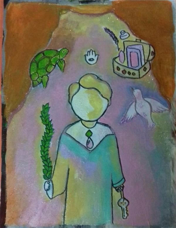 هنر نقاشی و گرافیک محفل نقاشی و گرافیک زهرا رئیسی رنگ روغن و گواش و اکرلیک