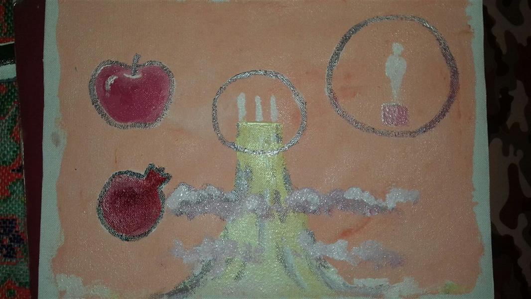 هنر نقاشی و گرافیک محفل نقاشی و گرافیک زهرا رئیسی بازدید از سیاره ی ونوس  رنگ روغن و گواش روی بوم. ابعاد ۲۵ در ۱۵