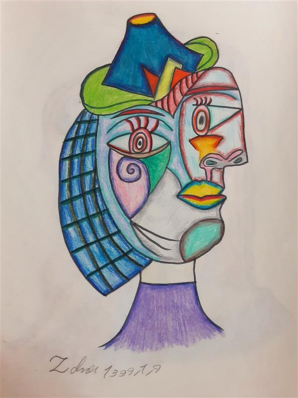 هنر نقاشی و گرافیک محفل نقاشی و گرافیک زهرا بالاکتفی-کوبیسم # کوبیسم# هنر انتزاعی# نوجوان# هنر نوجوان# هنر# پیکاسو