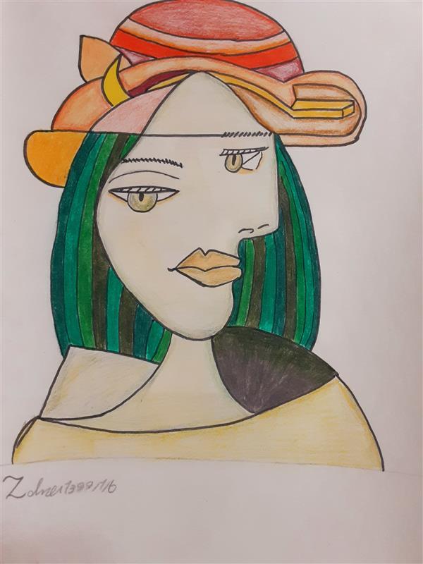 هنر نقاشی و گرافیک محفل نقاشی و گرافیک زهرا بالاکتفی-کوبیسم # کوبیسم# ذهن دیگر# پیکاسو# زهرا# بالاکتفی# زهرا بالاکتفی# هنر# هنر انتزاعی
