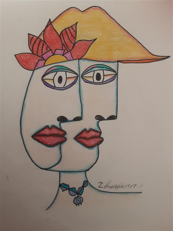 هنر نقاشی و گرافیک محفل نقاشی و گرافیک زهرا بالاکتفی-کوبیسم # دوچهره# زهرا# بالاکتفی# زهرابالاکتفی# هنر انتزاعی# کوبیسم# نوجوان# هنرنوجوان# آینده# پیکاسو