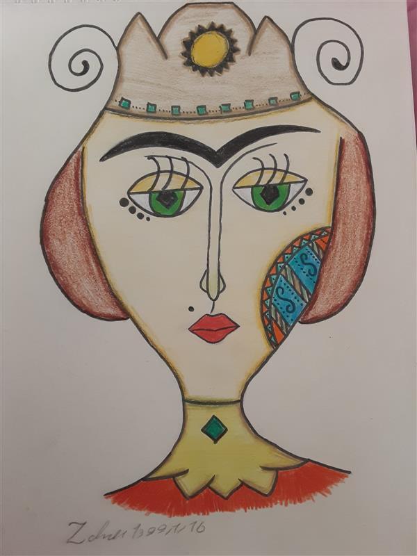 هنر نقاشی و گرافیک محفل نقاشی و گرافیک زهرا بالاکتفی-کوبیسم # زهرا# بالاکتفی# زهرا بالاکتفی# هنرانتزاعی# تفکر# کوبیسم# سنت# سنت مدرن# نوجوان# هنرنوجوان