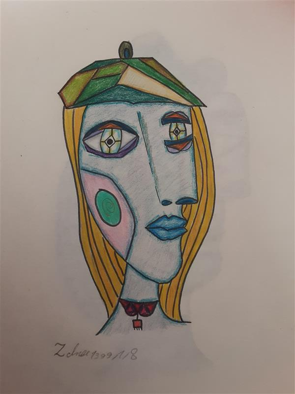 هنر نقاشی و گرافیک محفل نقاشی و گرافیک زهرا بالاکتفی-کوبیسم # کوبیسم# هنرانتزاعی# هنرمدرن# نوجوان# هنرنوجوان# پیکاسو# آینده