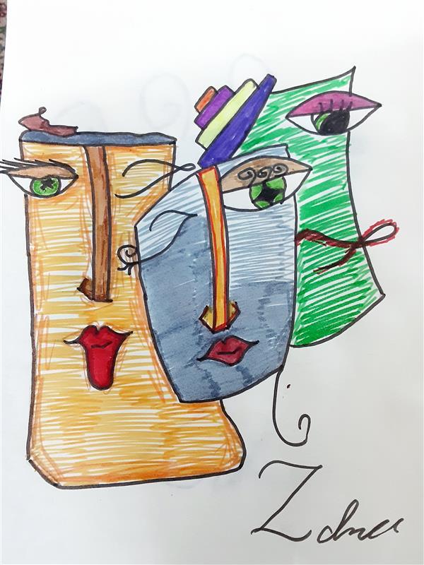هنر نقاشی و گرافیک محفل نقاشی و گرافیک زهرا بالاکتفی-کوبیسم # کوبیسم# هنر انتزاعی# زهرا بالاکتفی