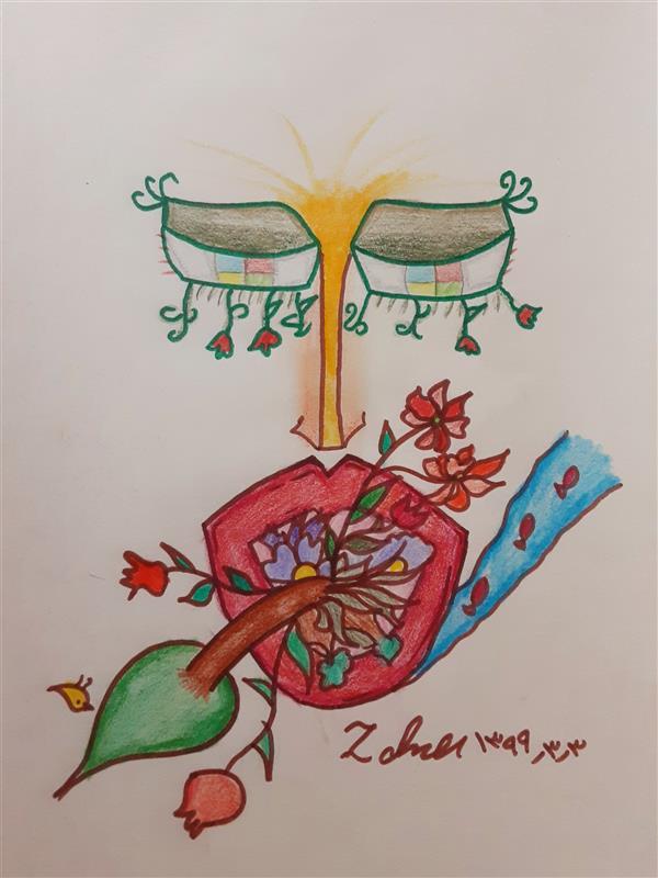 هنر نقاشی و گرافیک محفل نقاشی و گرافیک زهرا بالاکتفی-کوبیسم #کوبیسم# تصویر سازی# پیکاسو# نوجوان# هنر نوجوان# هنر انتزاعی
