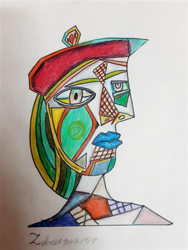 هنر نقاشی و گرافیک محفل نقاشی و گرافیک زهرا بالاکتفی-کوبیسم # کوبیسم# تقلید# پیکاسو# نوجوان# هنر نوجوان# زهرا بالاکتفی