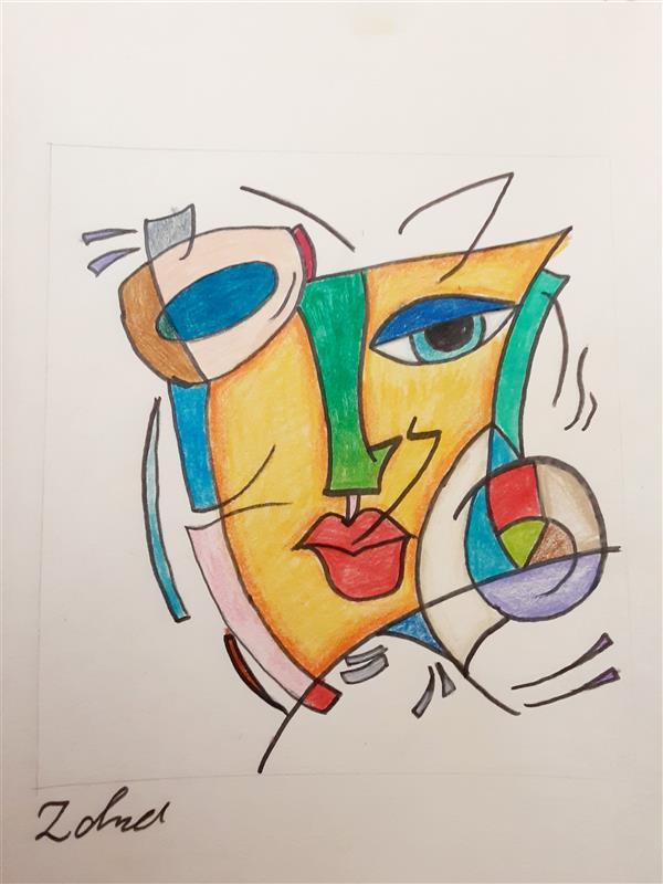 هنر نقاشی و گرافیک محفل نقاشی و گرافیک زهرا بالاکتفی-کوبیسم # کوبیسم# زهرا بالاکتفی# انتزاع# هنر انتزاعی# پیکاسو# نوجوان# هنر نوجوان