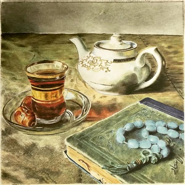 هنر نقاشی و گرافیک محفل نقاشی و گرافیک طاهره صابری ۳۵ در ۳۵ #مدادرنگی تنهایی طاهره صابری
