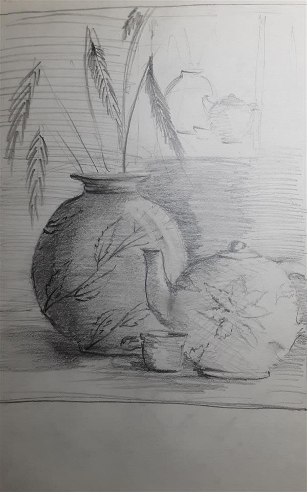 هنر نقاشی و گرافیک محفل نقاشی و گرافیک دکتر مهران داور نقاشی سیاهقلم با استفاده از یک مداد