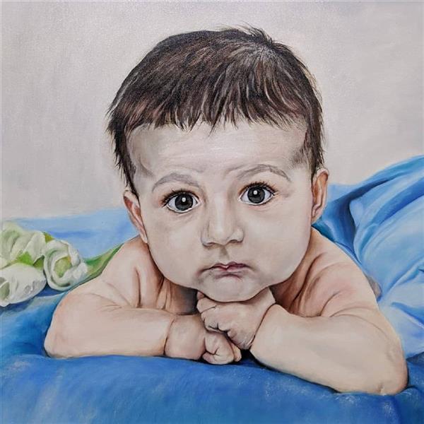 هنر نقاشی و گرافیک محفل نقاشی و گرافیک Morteza drodgaran نقاشی چهره#رنگ روغن روی بوم#ابعاد۱۰۰×۶۰