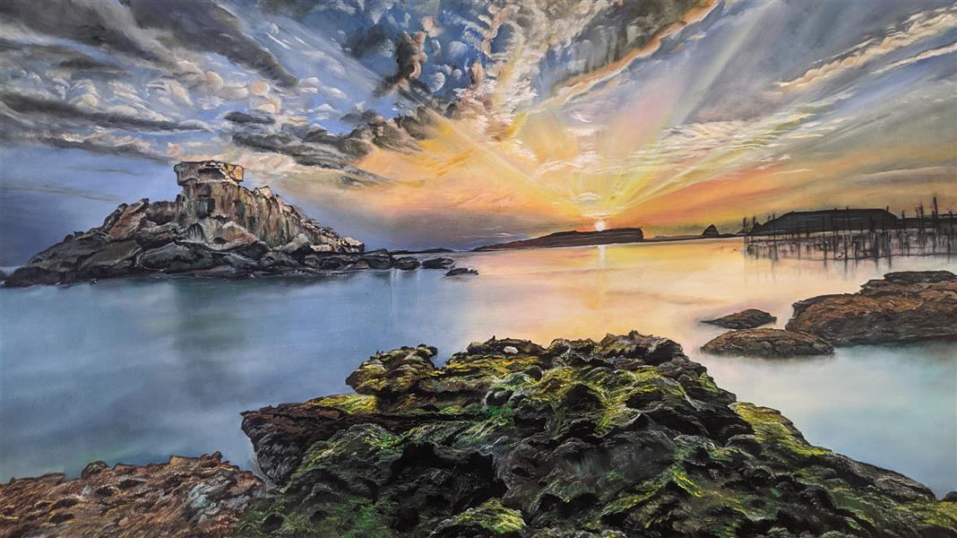 هنر نقاشی و گرافیک محفل نقاشی و گرافیک Morteza drodgaran #نقاشی رنگ روغن #سواحل زیبای خلیج فارس منظره طبیعی