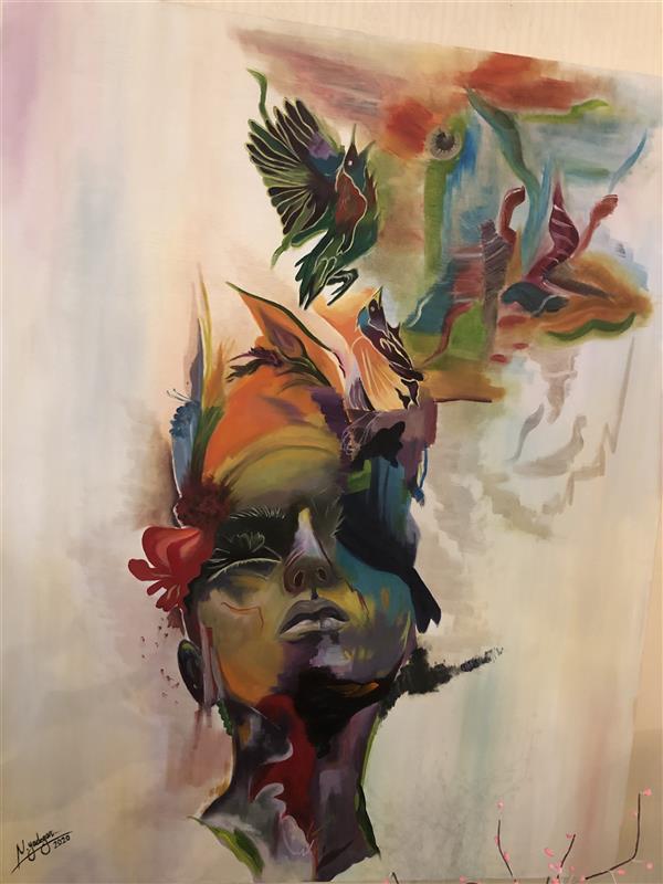 هنر نقاشی و گرافیک محفل نقاشی و گرافیک Nedayadegar  ابعاد ۱۰۰*۸۰ رنگ روغن سورئال