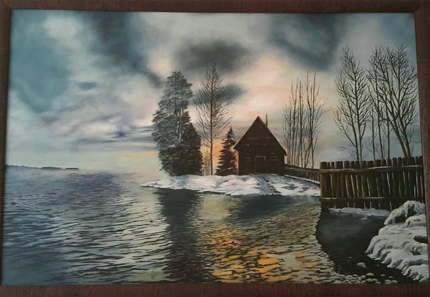 هنر نقاشی و گرافیک محفل نقاشی و گرافیک محبوبه توکلی ابعاد ۷۰×۵۰ از بوم و رنگ روغن استفاده شده.