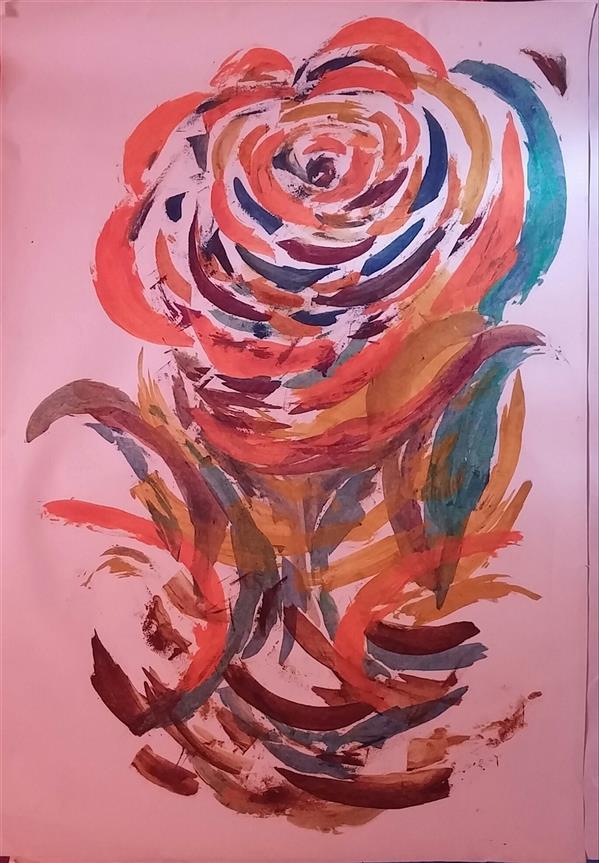 هنر نقاشی و گرافیک محفل نقاشی و گرافیک م امیری #ابعاد70×100 #رنگ روغن روی کاغذ