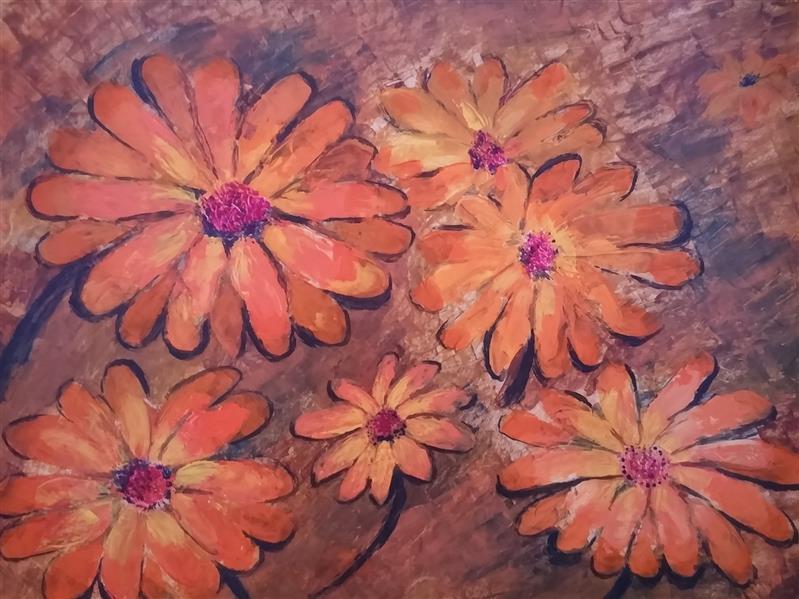 هنر نقاشی و گرافیک محفل نقاشی و گرافیک م امیری #رنگ روغن روی مقوا #ابعاد50×70