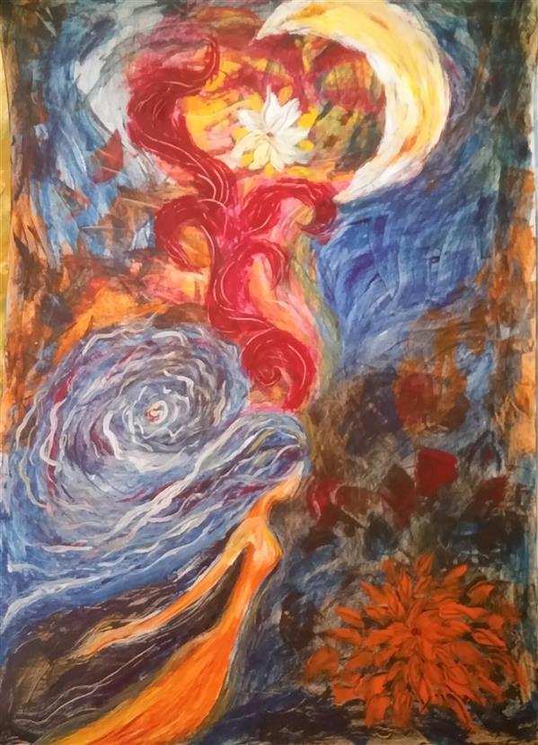 هنر نقاشی و گرافیک محفل نقاشی و گرافیک م امیری #رنگ روغن روی مقوا #ابعاد 50×70