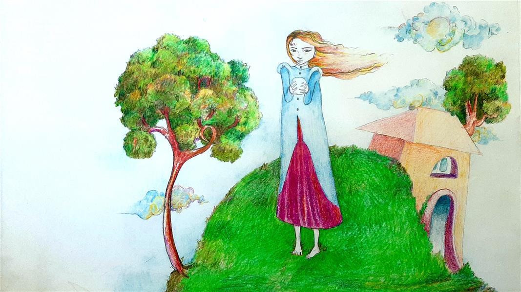 هنر نقاشی و گرافیک محفل نقاشی و گرافیک  Leila Feizi سهراب سپهری:وسیع باش، و تنها، و سر به زیر، و سخت