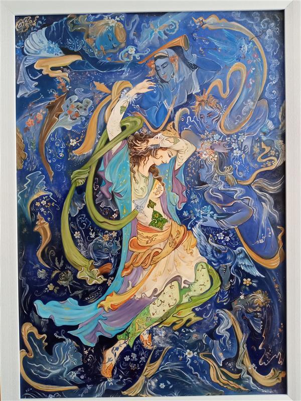هنر نقاشی و گرافیک محفل نقاشی و گرافیک زهره شجاعیان فر  100×70 رنگ روغن .مینیاتور