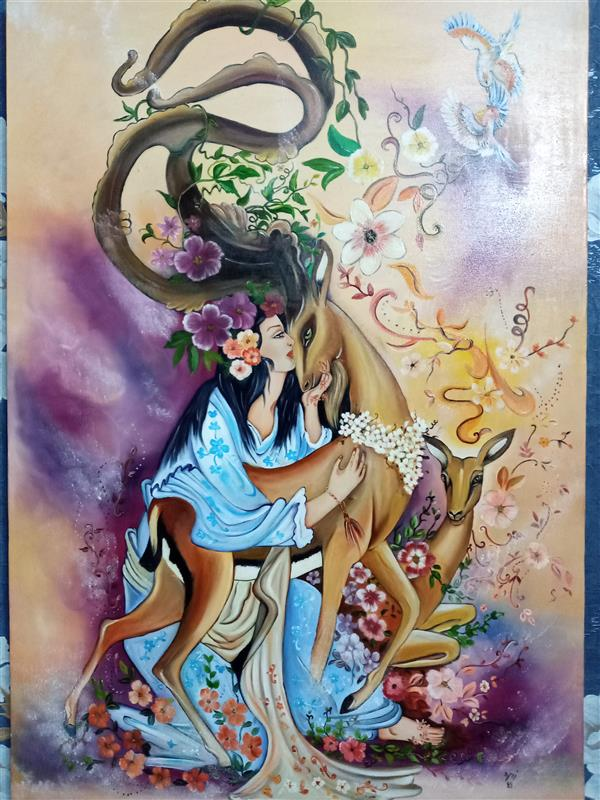 هنر نقاشی و گرافیک محفل نقاشی و گرافیک زهره شجاعیان فر  رنگ روغن#۱۰۰×۷۰#