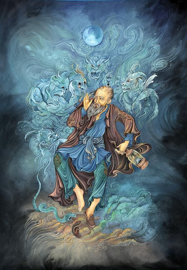 هنر نقاشی و گرافیک محفل نقاشی و گرافیک میلاد مهتابیان پور دی شیخ با چراغ همی گشت گرد شهر  کز دیو و ددملولم وانسانم آرزوست  (مولانا)