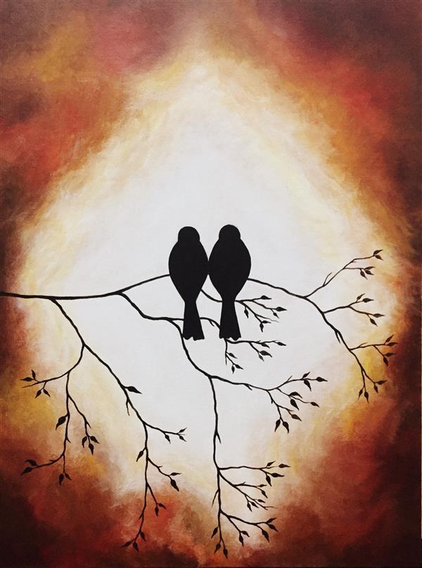هنر نقاشی و گرافیک محفل نقاشی و گرافیک سمانه حنایی #تکنیک اکرلیک روی بوم #سایز۴۵*۶۰ #تابلو دکوراتیو