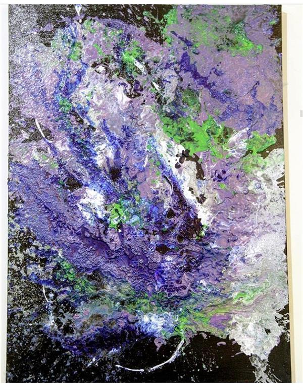 هنر نقاشی و گرافیک محفل نقاشی و گرافیک پریسا جعفری  نام اثر:طوفان آبی ابعاد:50*70