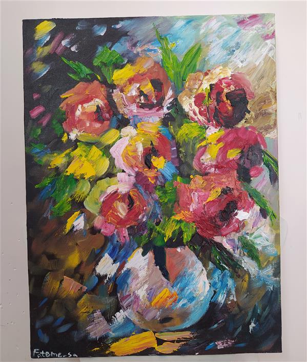 هنر نقاشی و گرافیک محفل نقاشی و گرافیک Fateme sadeghi #تابلو #رنگ_و_روغن سبک: #امپرسیونیسم اندازه:۳۰×۴۰