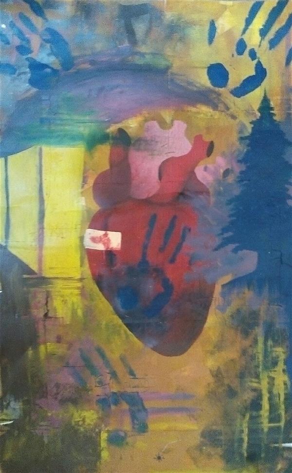 هنر نقاشی و گرافیک محفل نقاشی و گرافیک آرین نام اثر لکه #رنگ_روغن#سورئال#سورئالیسم رنگ روغن روی کاغذ ابعاد 80*48