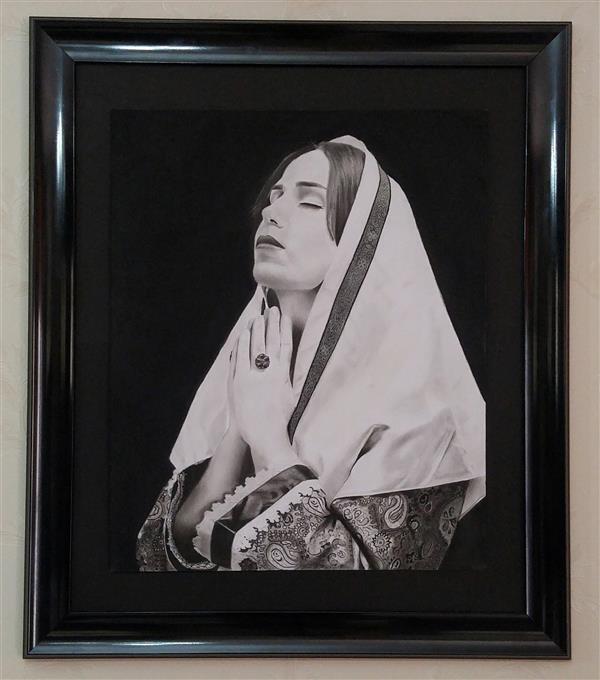 هنر نقاشی و گرافیک محفل نقاشی و گرافیک حسین شفیعی ابعاد۶۰*۹۰ #سیاه_قلم